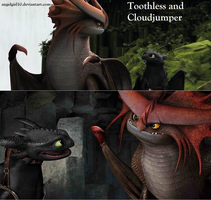 Toothless and Cloudjumper by Angelgirl10