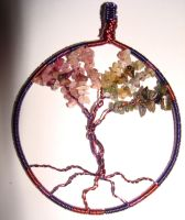 Watermelon Tourmaline Tree of Life Wire Wrapped by JennyKalifeh