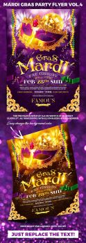 Mardi Gras Party Flyer vol.4 by 4ustudio