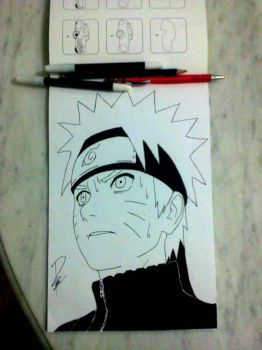 Drawing naruto by Raih4n