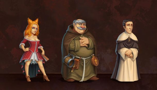 Holy Towers Characters1 by baklaher