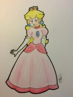 Princess Peach by princesseclairtippi