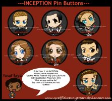 Inception Buttons by Graffiti2DMyHeart