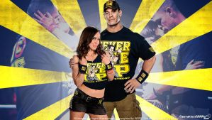 WWE John Cena and AJ Lee Wallpaper Widescreen V2 by Timetravel6000v2