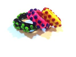 Tentacle Rings (FOR SALE) by octapuu