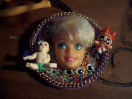 Barbie Head Necklace 1 by illcoveryouwjh