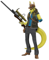 Team Furtress - BLU Sniper by AcheronTheFox