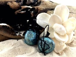 Polymer Clay Faux Chinese Ming Pearl Earrings by Welcome2alittleTLC