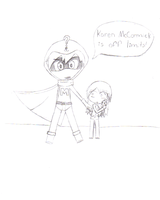 South Park Mysterion and Karen by MimzyTheRabbit
