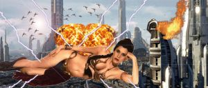 LEIA  THE TIME TRAVELING GIANTESS by darthbriboy