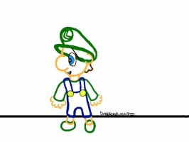 Baby Luigi's Epic Yarn by dribbleondo