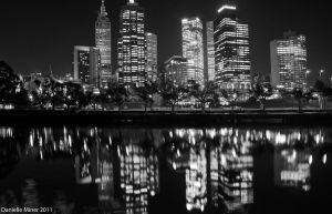 Melbourne Night BW by DanielleMiner