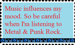 Music influences my mood Stamp by Seeking-Destiny