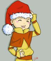 Avatar Christmas--Aang by LunaMiel