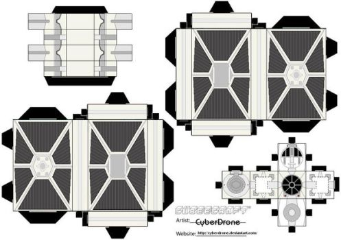 Cubee - TIE Fighter 'White' by CyberDrone