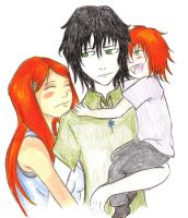 Ulquihime family hug color by Chibi-Twilight