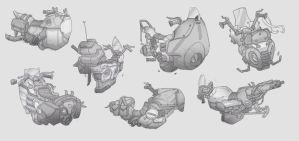 Antigrav Bike Concept Sketches by BrotherBaston