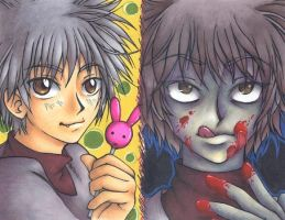 The Two Faces of Killua by m3ru