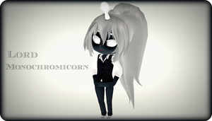.:Lord Monochromicorn:. by capricova