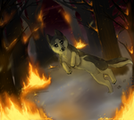 Forest Fire by shattered-bones