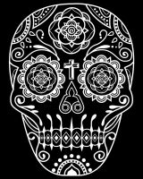 Day of the Dead Deco Skull 4 by qetza