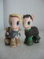 Astrid and Hiccup by assassin-kitty