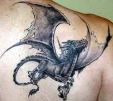 dragon tattoo for stanzani by BrunofPaiva