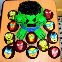 Hulk and Friends Cake by ToughSpirit