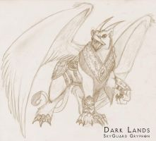 Dark Lands-SkyGuard Gryphon by WhiteFenrril