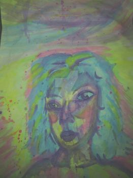 Abstract Girl Watercolor by ArtistAbstractly