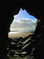 From a Beach Cave by fuzzy