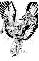 Savage Hawkman ISSUE #0 Cover by aethibert