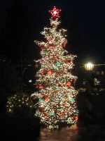 Christmas Tree of Lights by GreenEyezz-stock