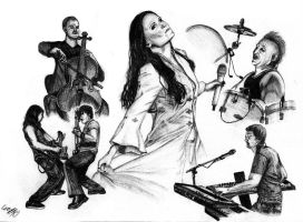 Tarja and Band by ArtGoldArt
