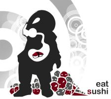 eat sushi by RideFire