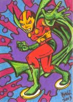 Mister Miracle Sketch Card by ragzdandelion