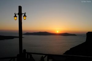 Sunset in Santorini by BenHeine