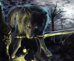 DS: Great Gray Wolf by HyperShadowX1