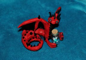 Dragon and Fairy Bottle by xColere
