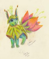 Lileon, My Grass and Water eevee fakeon by Aisheyru-Fox