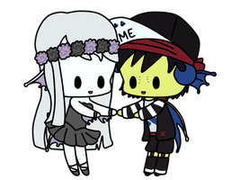 Emery and Lenore by stinaasaurusrex