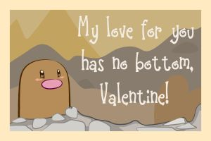 Diglett Valentine by The-Blue-Pangolin