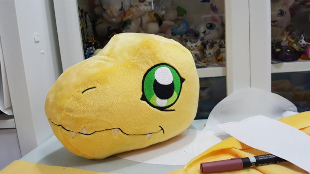 Digimon - WIP life size Agumon   by Kitamon