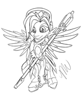 MLP: Sketch: Mercy-Pony by Mychelle