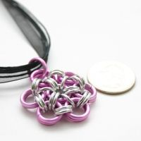 Pink Japanese Flower Pendant by Utopia-Armoury