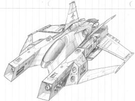 Scimitar Heavy Fighter by DissidentZombie