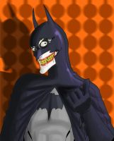 Whadya think of my new look, Batsy? by sheggy