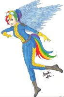 Human Rainbow Dash - Wonderbolt Academy by singstargirl13