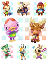 My Animal Crossing Neighbors~ by inki-drop