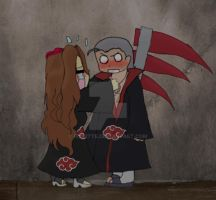Hidan-and-rose by Ros3tte